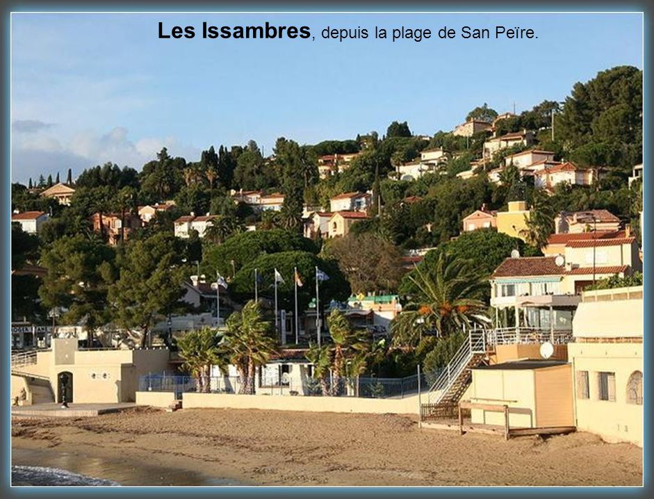 Les Issambres, depuis la plage de San Peïre.