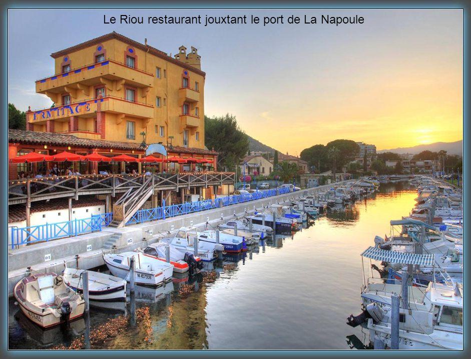 Le Riou restaurant jouxtant le port de La Napoule