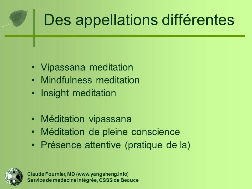Des appellations différentes