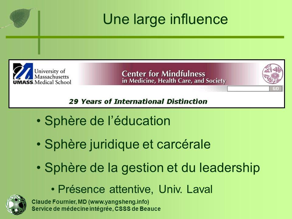 Une large influence Sphère de l'éducation