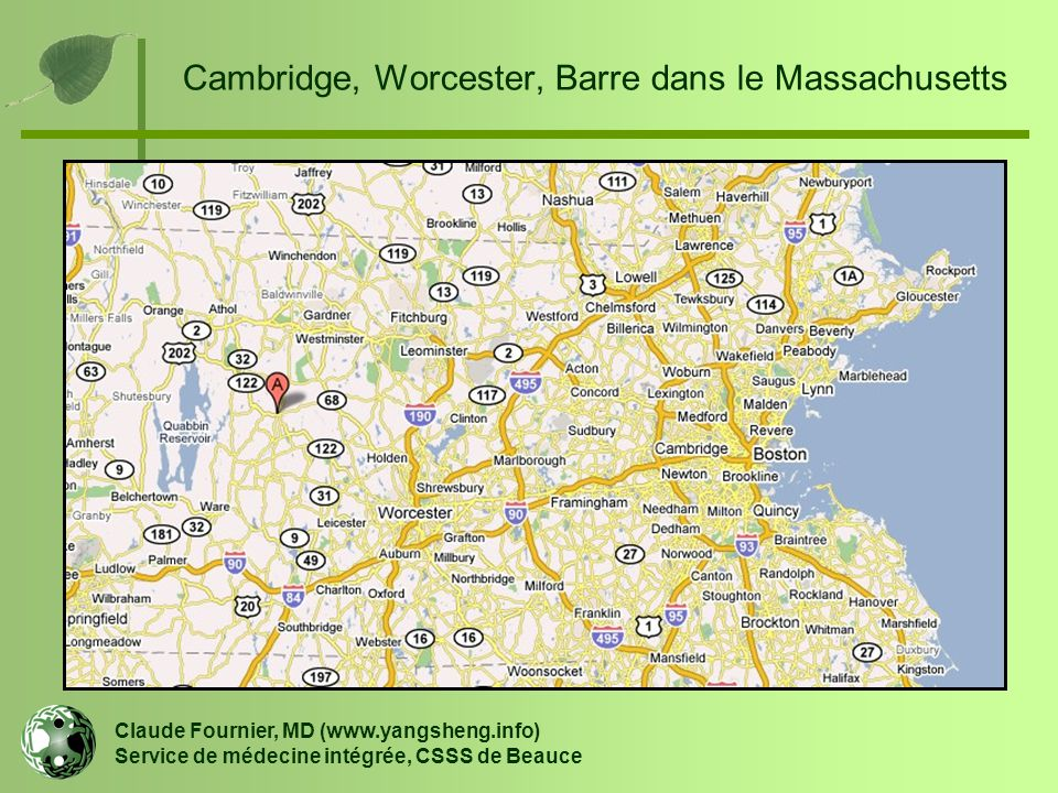 Cambridge, Worcester, Barre dans le Massachusetts