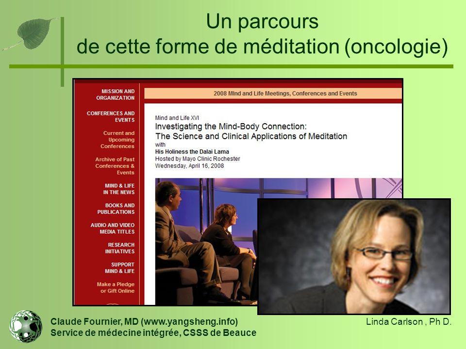 Un parcours de cette forme de méditation (oncologie)