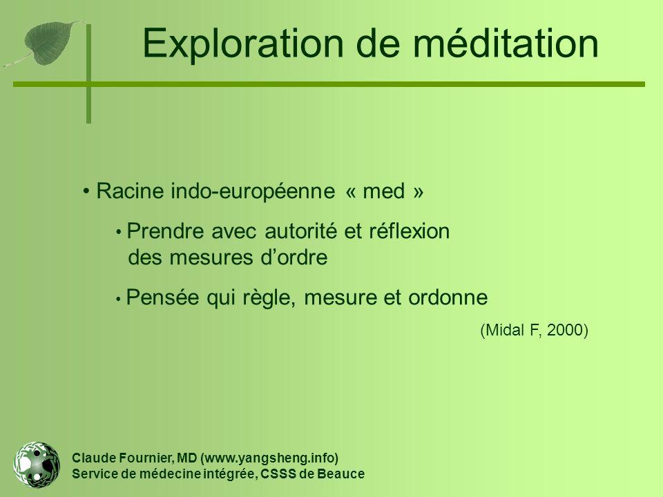 Exploration de méditation