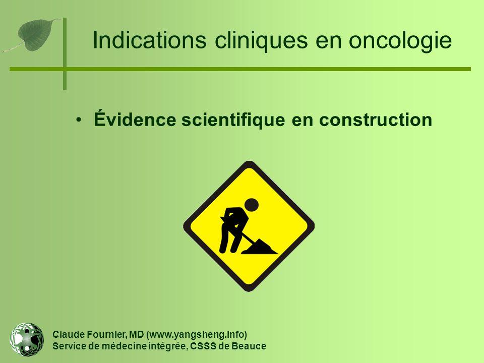 Indications cliniques en oncologie
