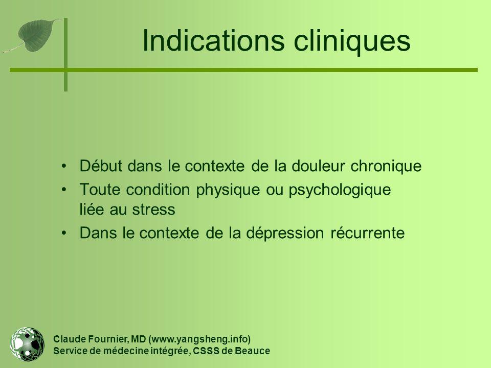 Indications cliniques