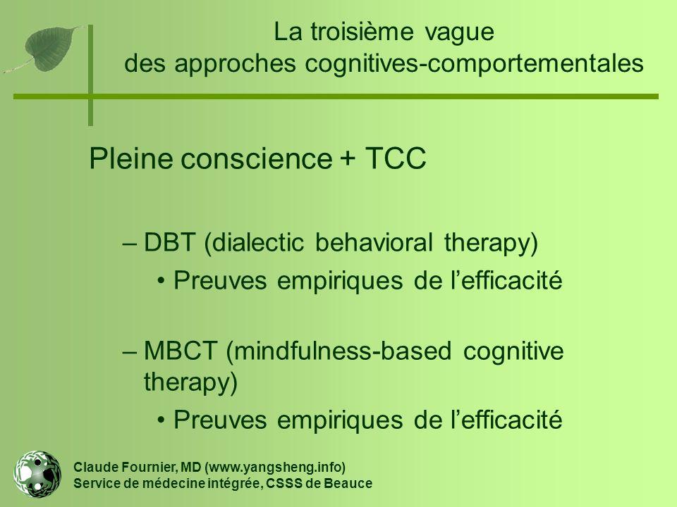 La troisième vague des approches cognitives-comportementales