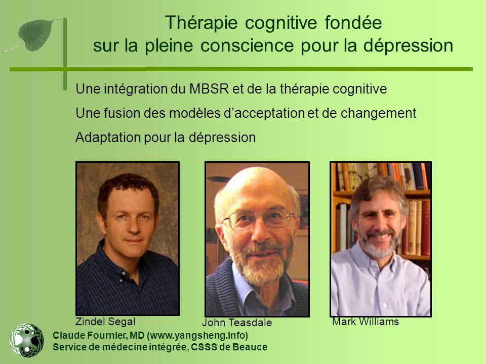 Thérapie cognitive fondée sur la pleine conscience pour la dépression