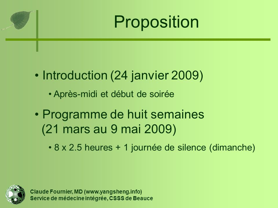 Proposition Introduction (24 janvier 2009)