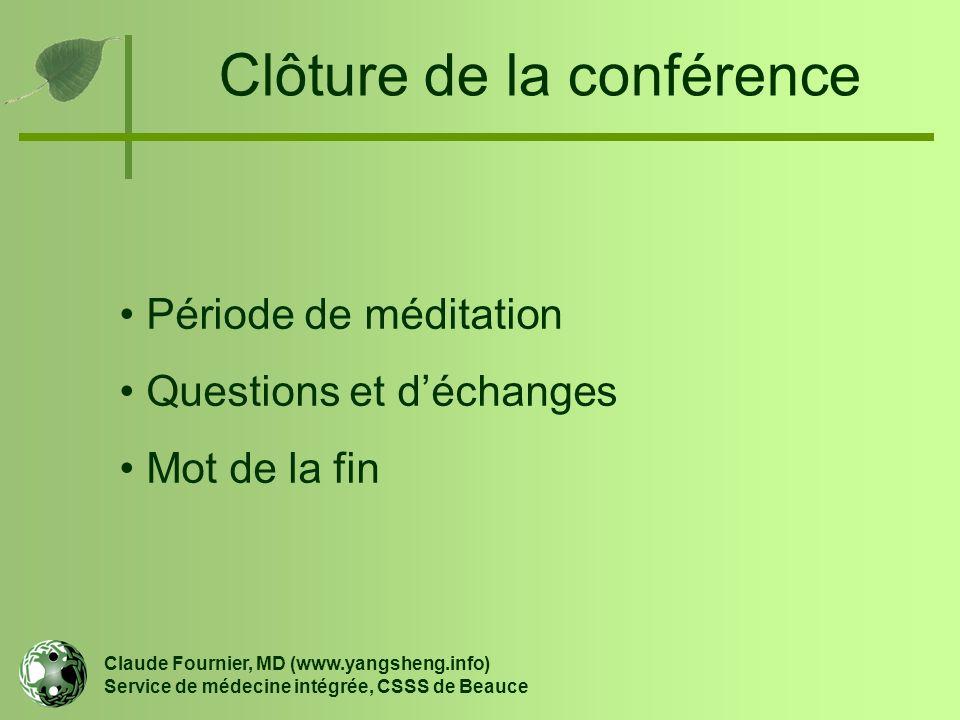 Clôture de la conférence
