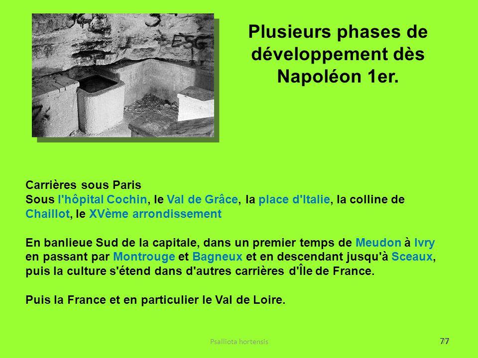 Plusieurs phases de développement dès Napoléon 1er.