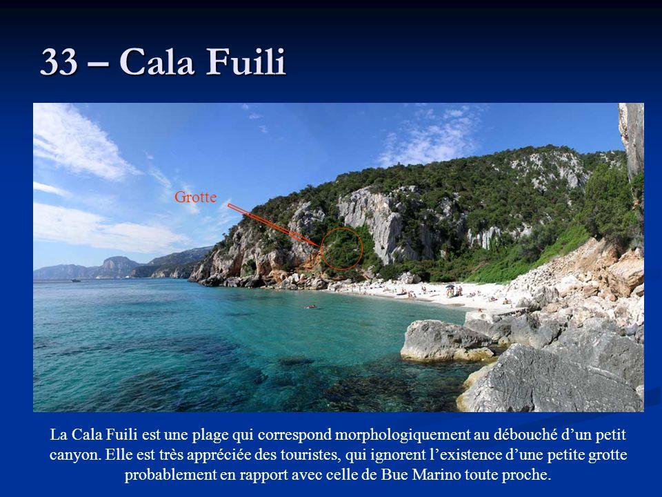 33 – Cala Fuili Grotte.