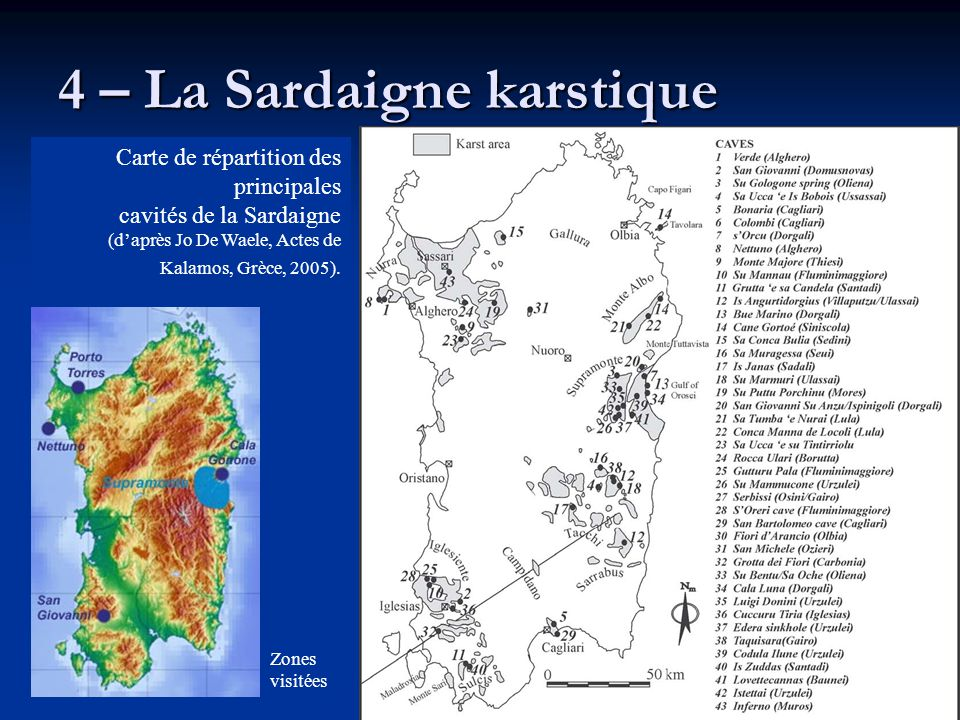 4 – La Sardaigne karstique