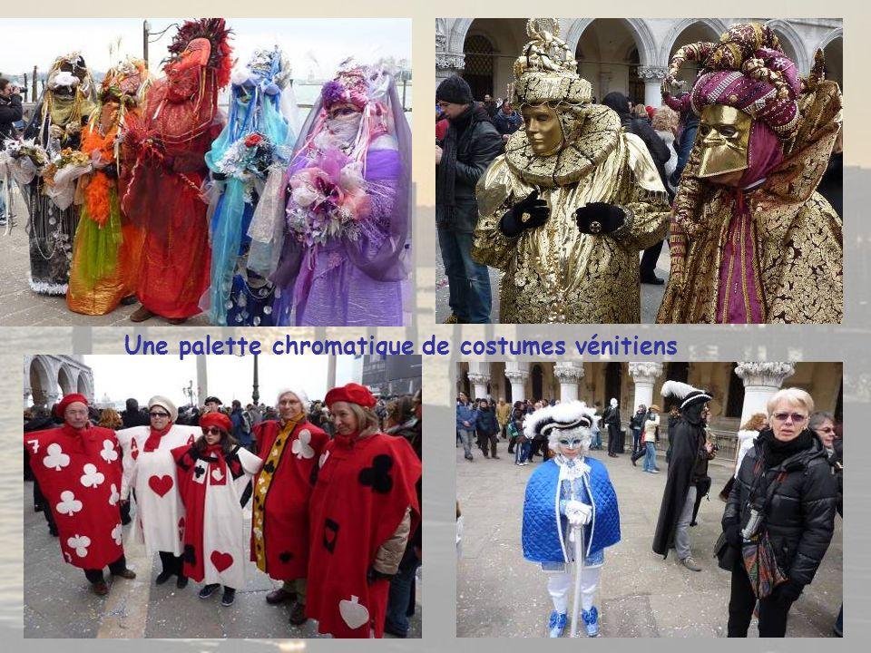 Une palette chromatique de costumes vénitiens
