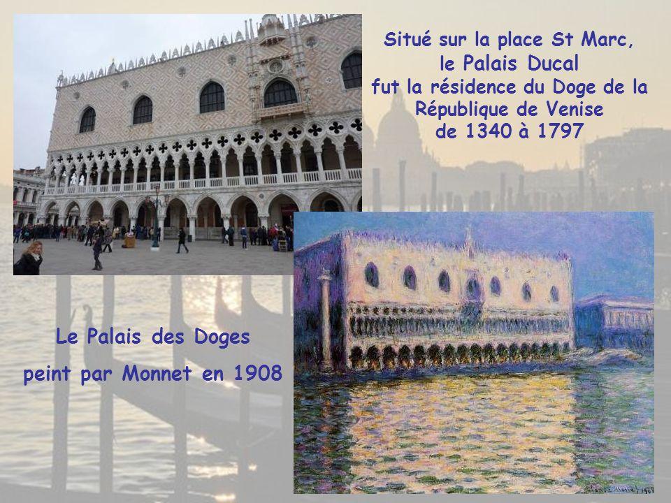 Le Palais des Doges peint par Monnet en 1908