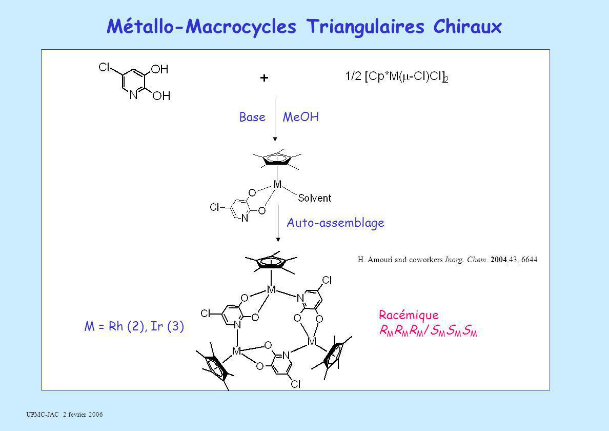 Métallo-Macrocycles Triangulaires Chiraux