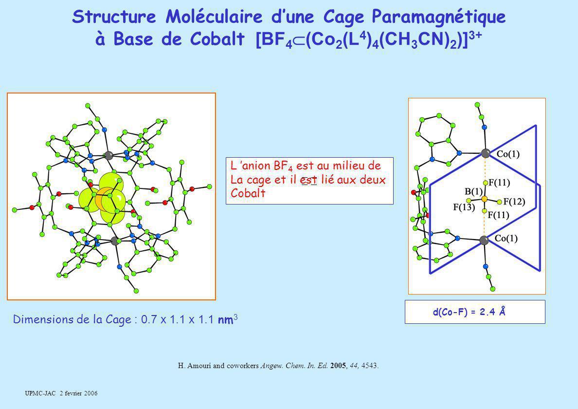 Structure Moléculaire d'une Cage Paramagnétique