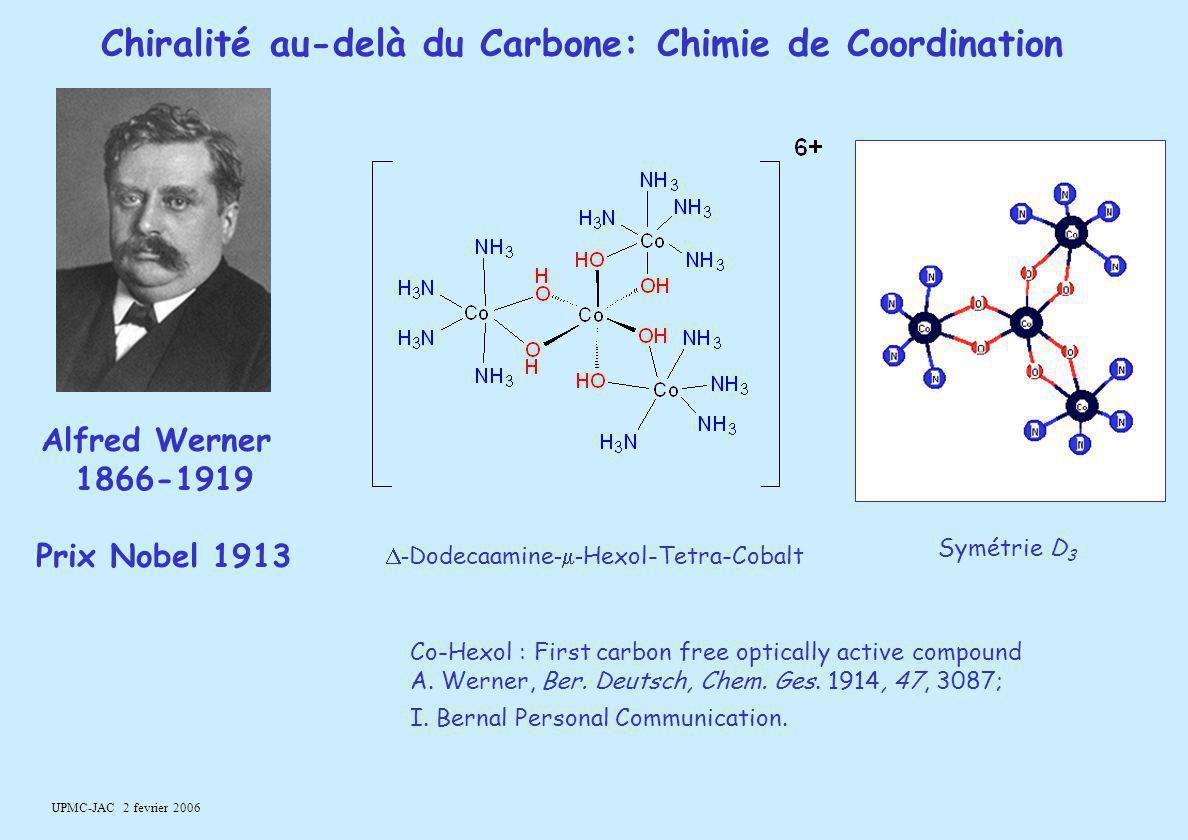 Chiralité au-delà du Carbone: Chimie de Coordination