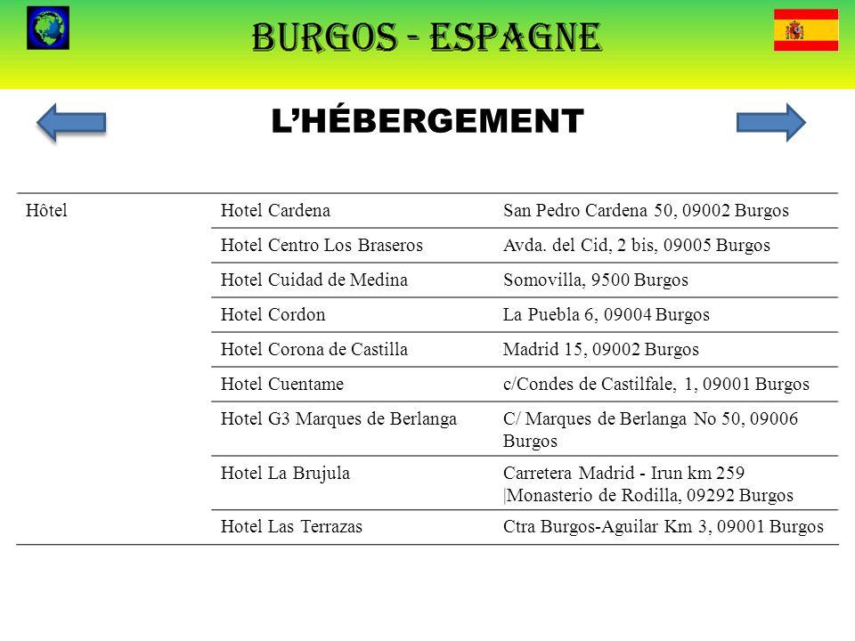 L'HÉBERGEMENT Hôtel Hotel Cardena San Pedro Cardena 50, 09002 Burgos