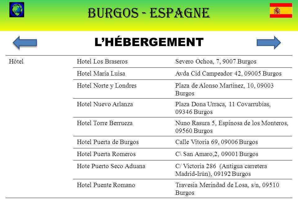 L'HÉBERGEMENT Hôtel Hotel Los Braseros Severo Ochoa, 7, 9007 Burgos