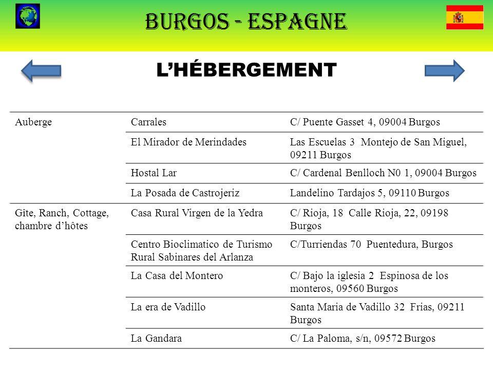 L'HÉBERGEMENT Auberge Carrales C/ Puente Gasset 4, 09004 Burgos