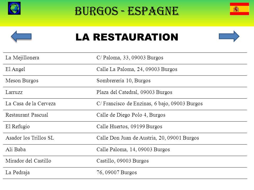 LA RESTAURATION La Mejillonera C/ Paloma, 33, 09003 Burgos El Angel