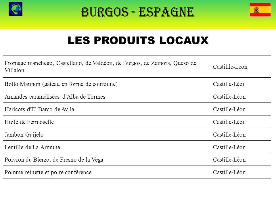 LES PRODUITS LOCAUX Fromage manchego, Castellano, de Valdéon, de Burgos, de Zamora, Queso de Villalon.