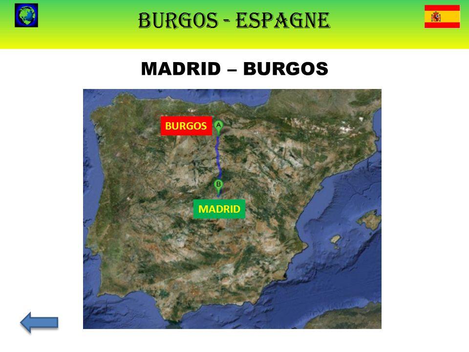 MADRID – BURGOS BURGOS MADRID