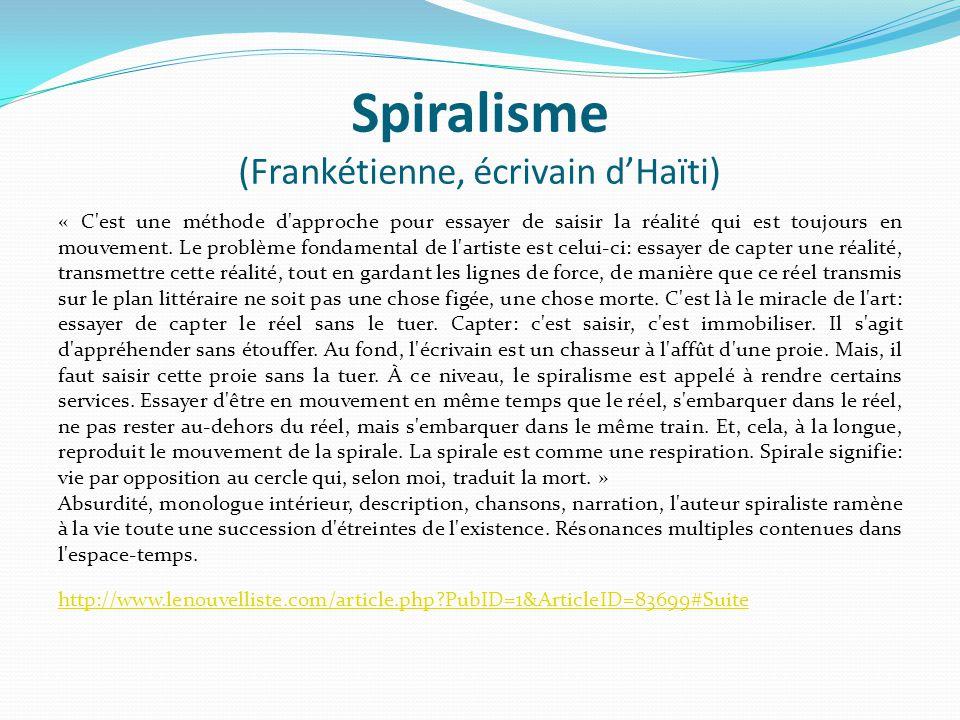 Spiralisme (Frankétienne, écrivain d'Haïti)
