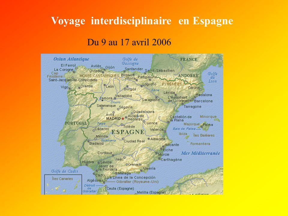 Voyage interdisciplinaire en Espagne