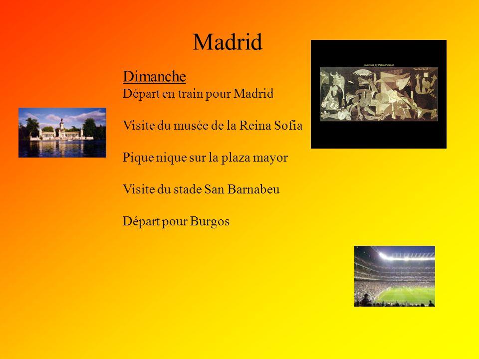 Madrid Dimanche Départ en train pour Madrid