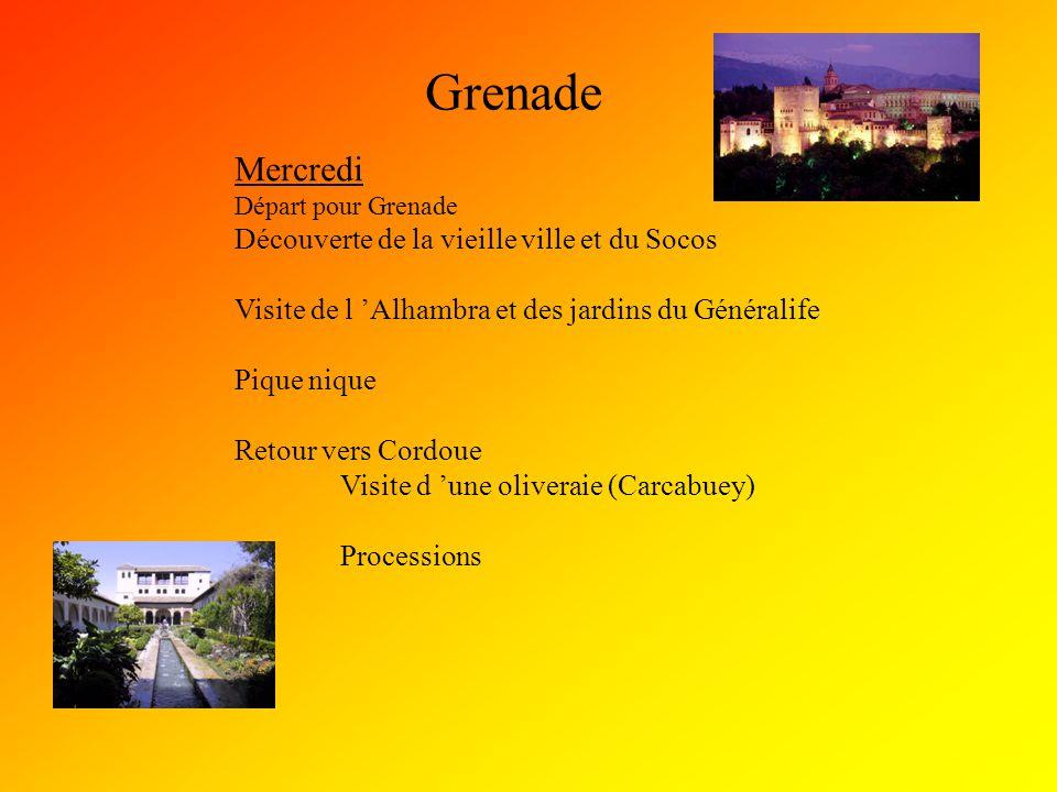 Grenade Mercredi Découverte de la vieille ville et du Socos