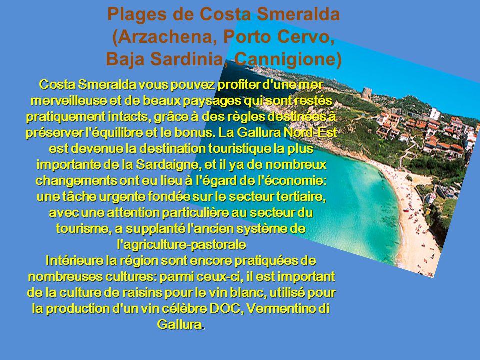 Plages de Costa Smeralda (Arzachena, Porto Cervo, Baja Sardinia, Cannigione)