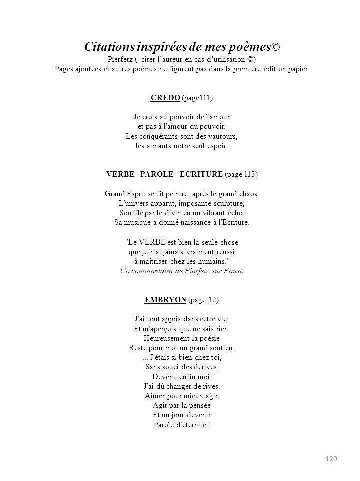 VERBE - PAROLE - ECRITURE (page 113)