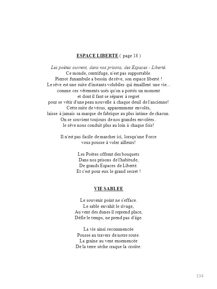 ESPACE LIBERTE ( page 18 )