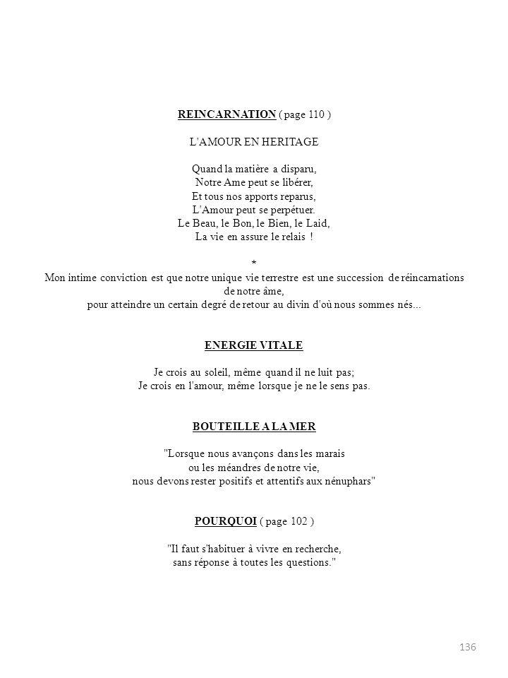 REINCARNATION ( page 110 ) L AMOUR EN HERITAGE.