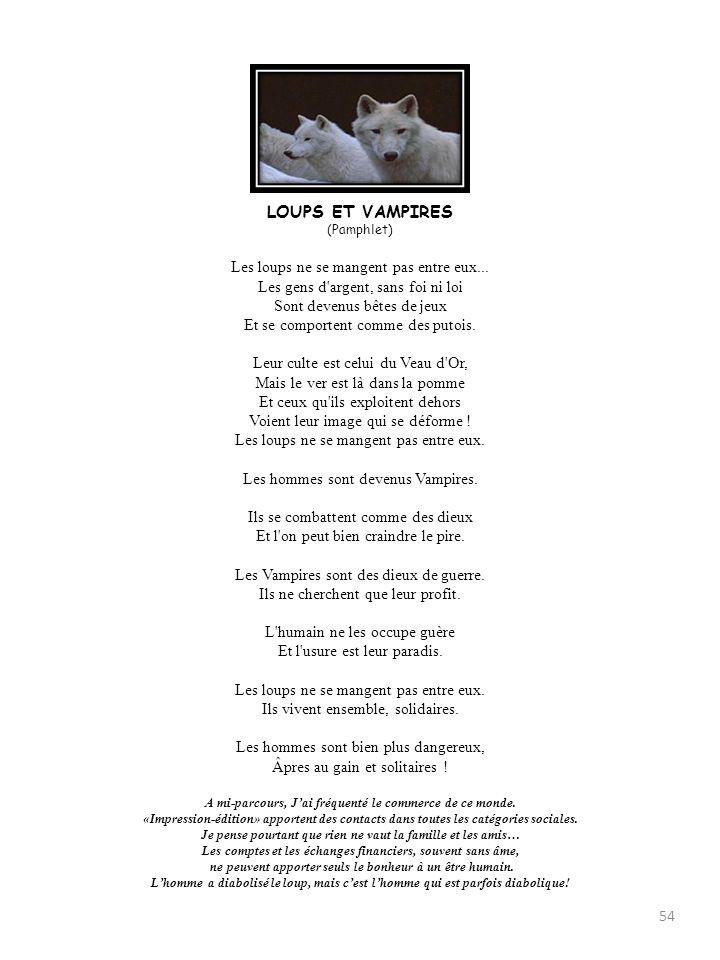 LOUPS ET VAMPIRES (Pamphlet)