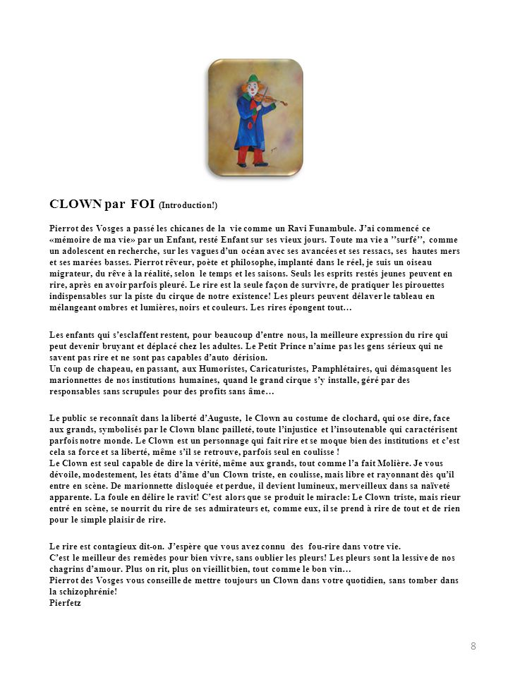 CLOWN par FOI (Introduction!)