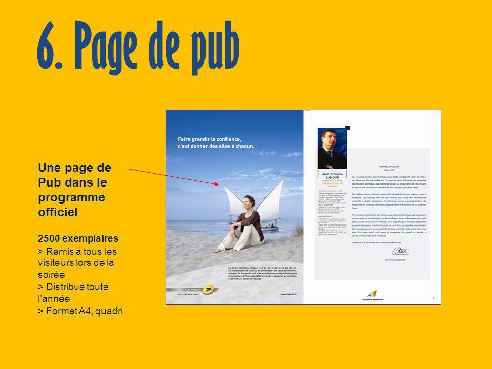 6. Page de pub Une page de Pub dans le programme officiel