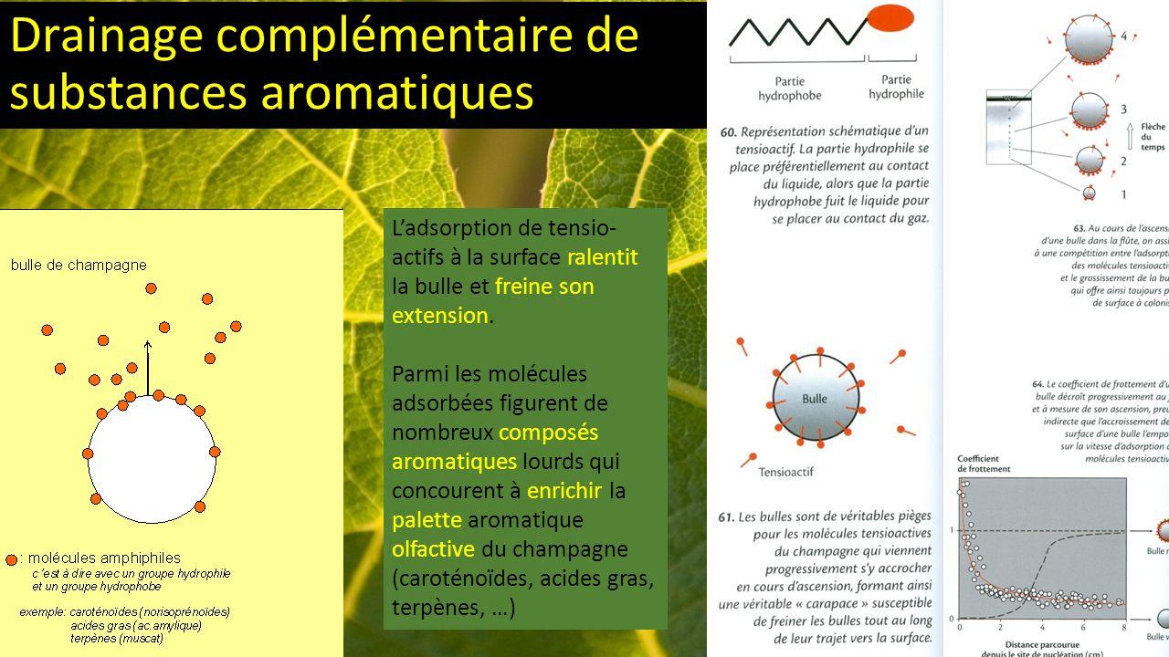 Drainage complémentaire de substances aromatiques