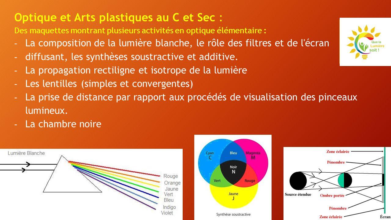 Optique et Arts plastiques au C et Sec :