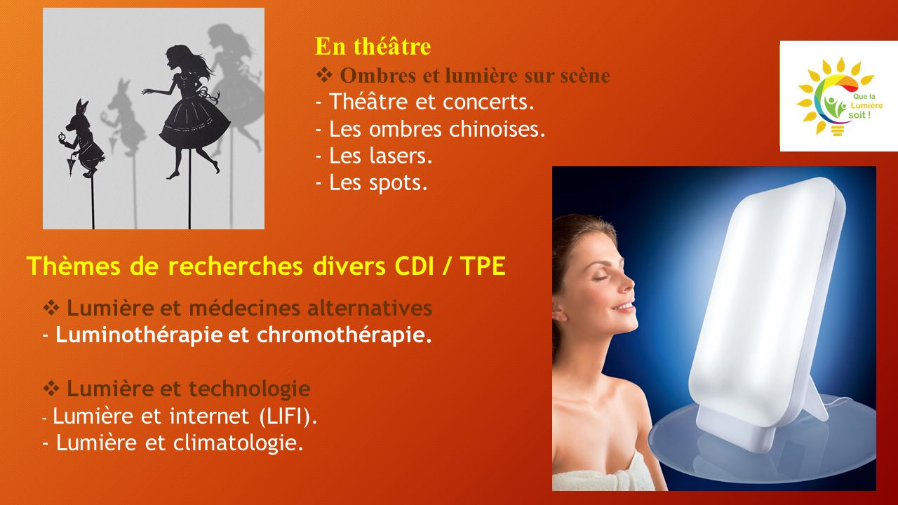 Thèmes de recherches divers CDI / TPE