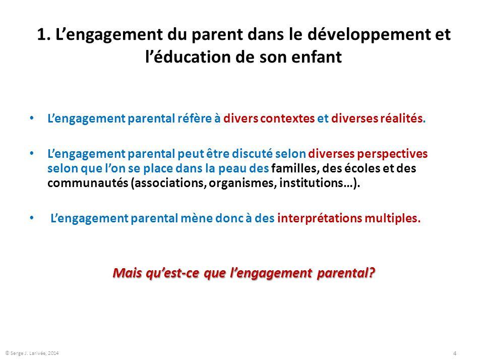 Mais qu'est-ce que l'engagement parental