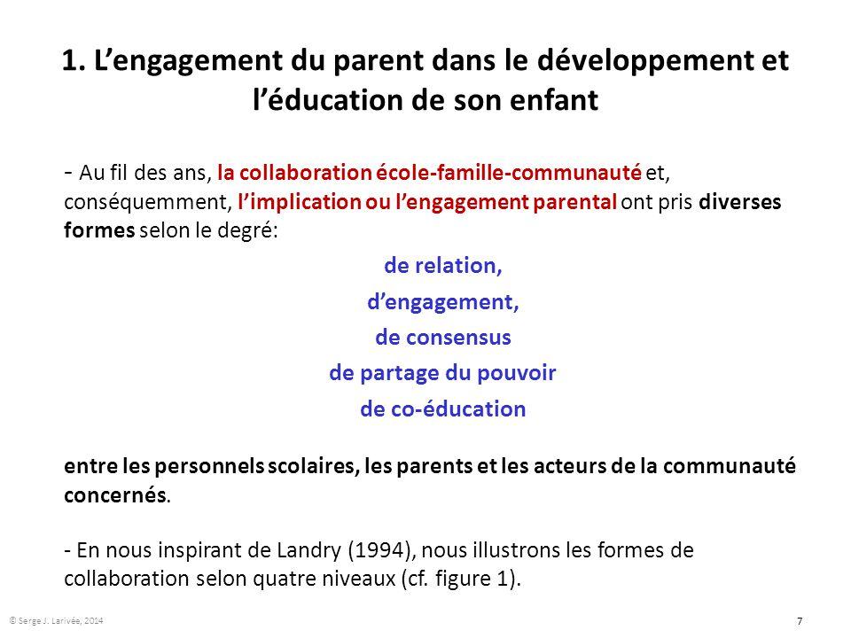 1. L'engagement du parent dans le développement et l'éducation de son enfant