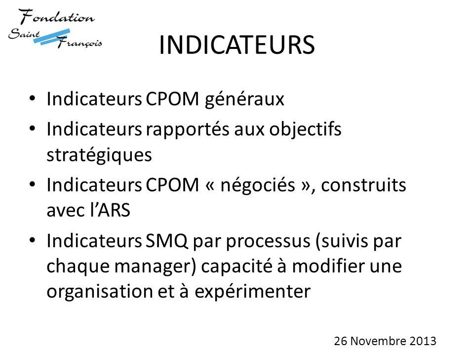 INDICATEURS Indicateurs CPOM généraux