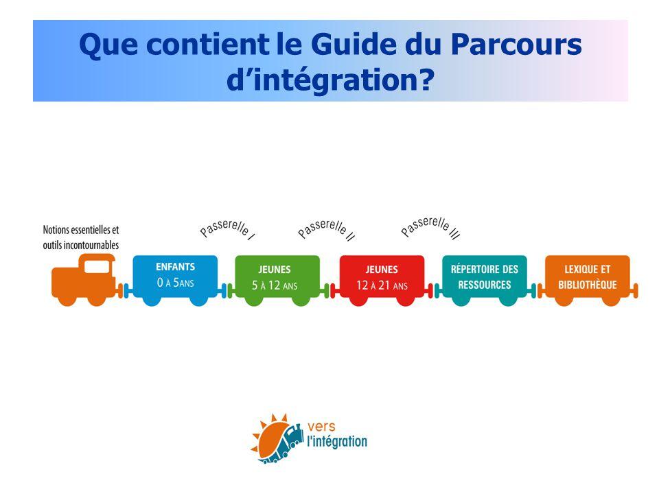 Que contient le Guide du Parcours d'intégration