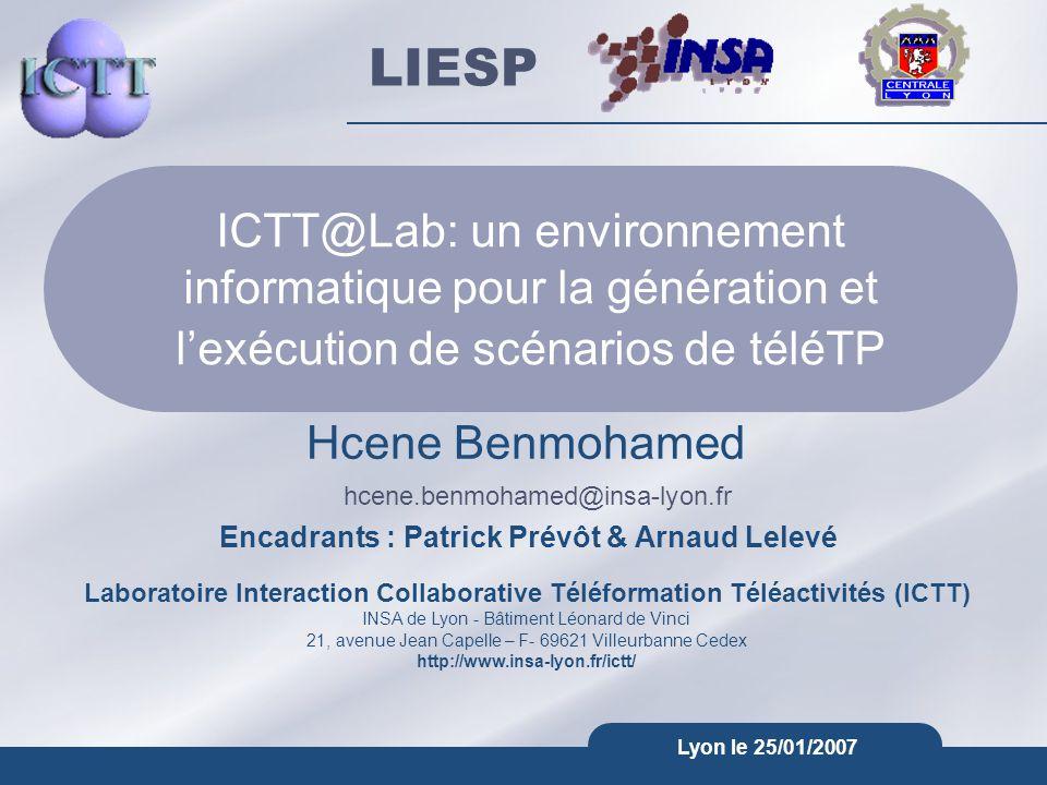 ICTT@Lab: un environnement informatique pour la génération et l'exécution de scénarios de téléTP