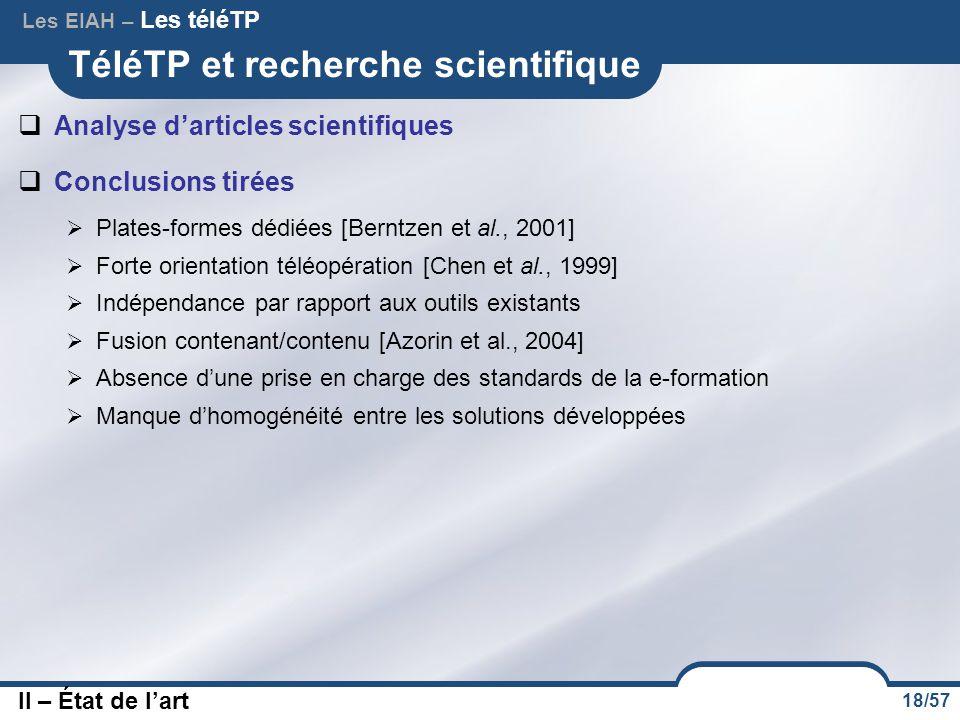 TéléTP et recherche scientifique
