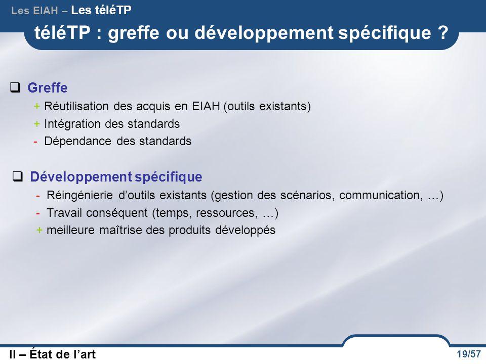 téléTP : greffe ou développement spécifique