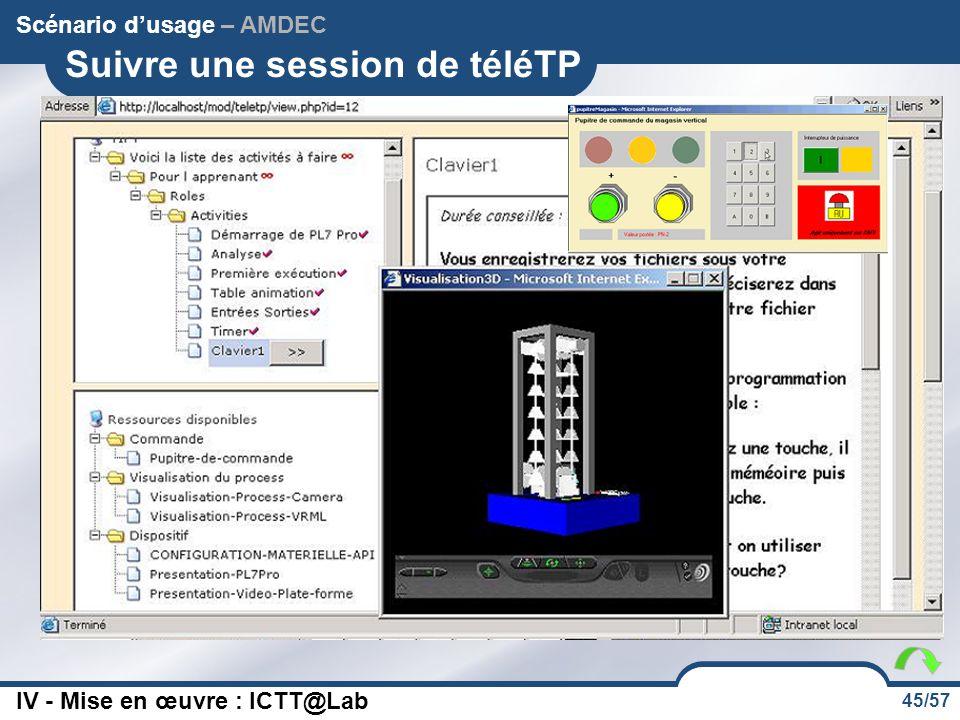 Suivre une session de téléTP