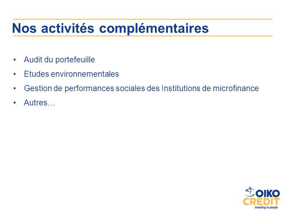 Nos activités complémentaires
